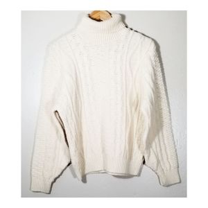 Cream Vintage▪︎Turtleneck Sweater
